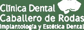 logo clinica dental caballero de rodas blanco